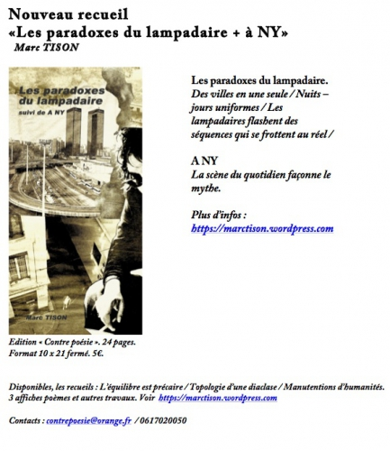 Nouveau recueil «Les paradoxes du lampadaire - copie.jpg