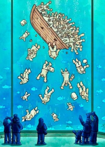 Alireza Pakdel Le drame des réfugiés artiste iranien.jpg